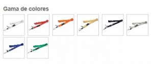 colores lanyards